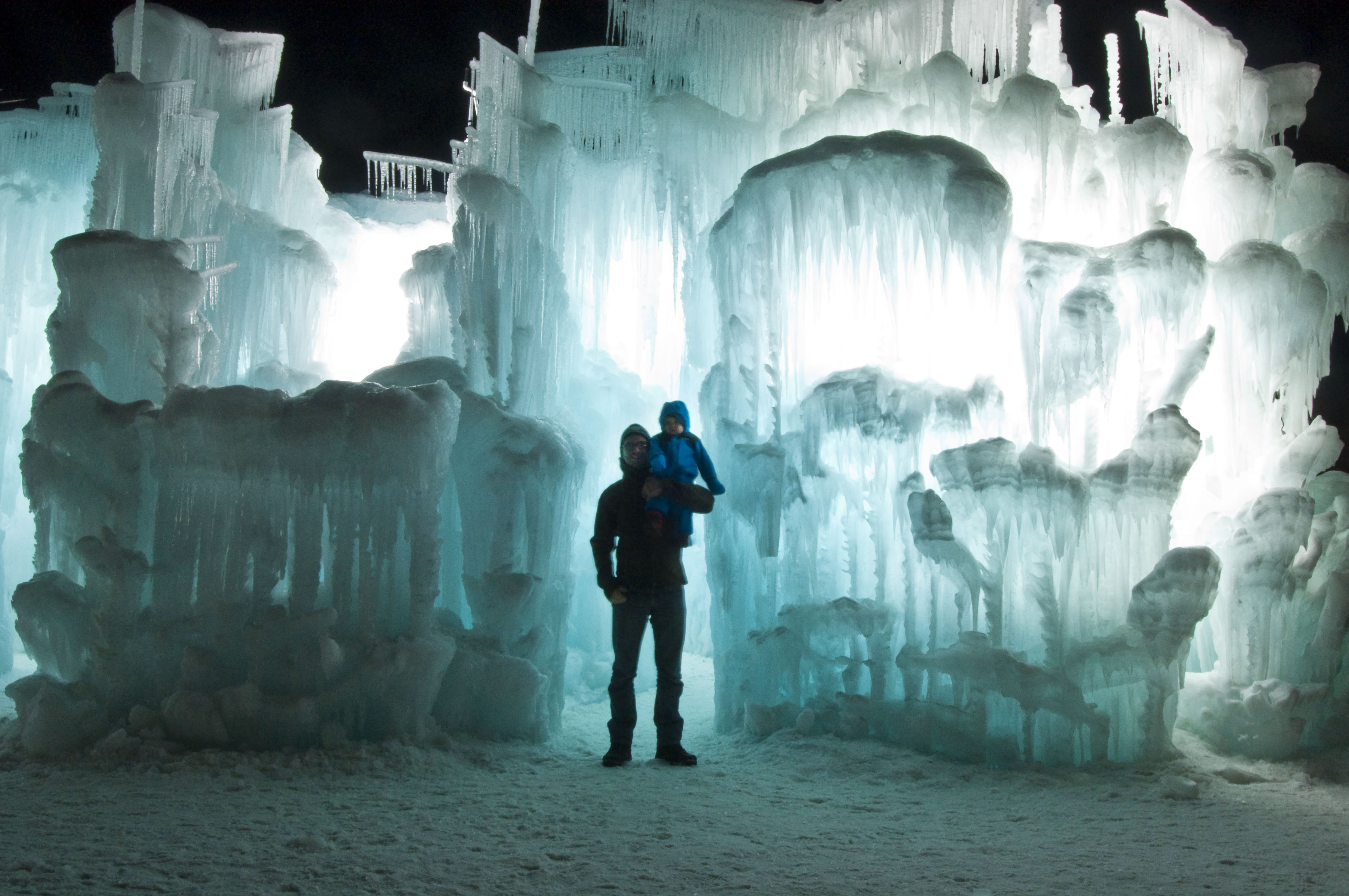 one of this week's highlights - ice castle visit with friends and family