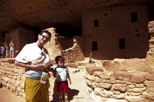 Spruce House cliff dwelling with my guys