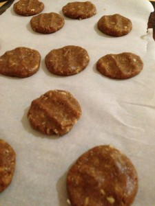 Peanut Butter and Tahini Cookies with Wacky Apple Applesauce