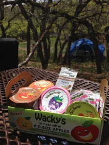Wacky Apple Snack Pack with juice, sauce, and fruit leather