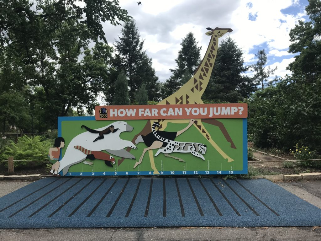 how far can you jump area